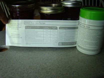 ball pectin jar label