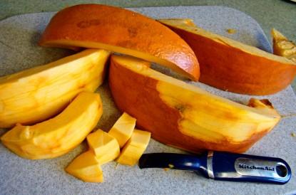 big pumpkin slices
