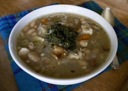 bean-soup-with-pesto