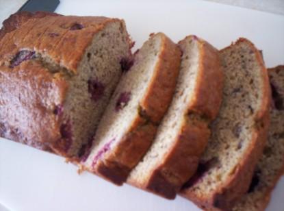 Banana Raspberry Bread