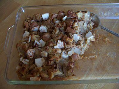 Apple Molasses Bread Pudding